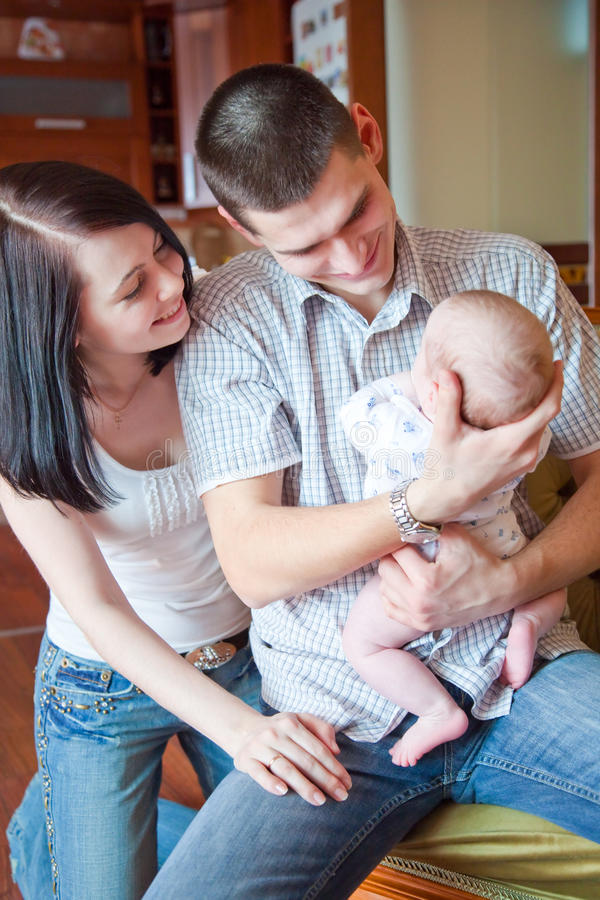rodzina szczęśliwa fotografia stock