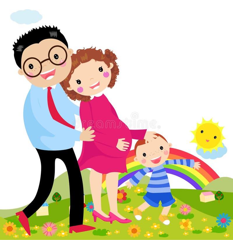 rodzina szczęśliwa royalty ilustracja