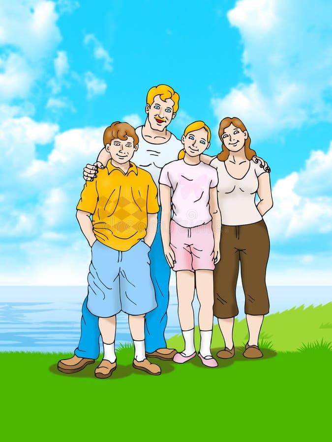 rodzina szczęśliwa ilustracji