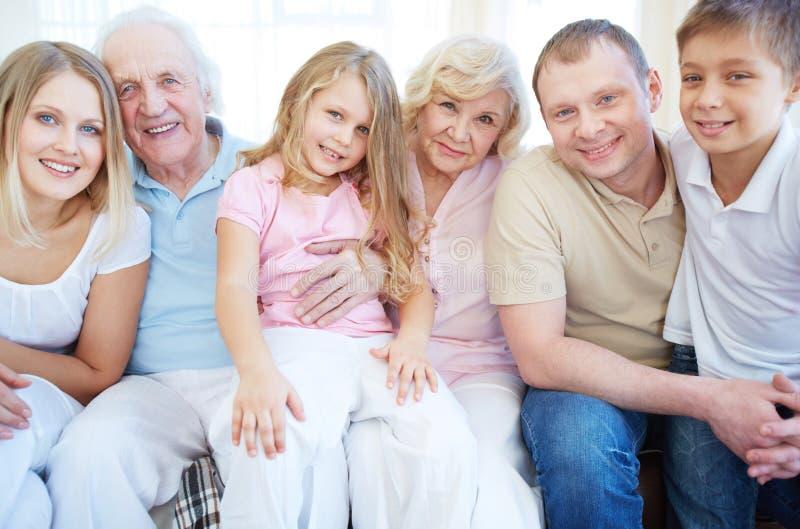 Rodzina sześć zdjęcia royalty free