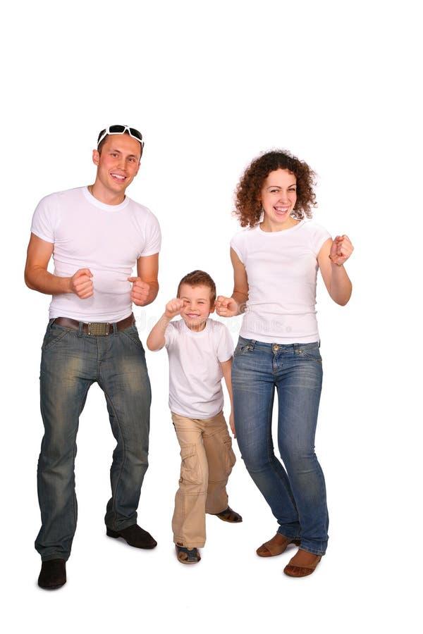 Rodzina Tańczącą 3 Obrazy Stock