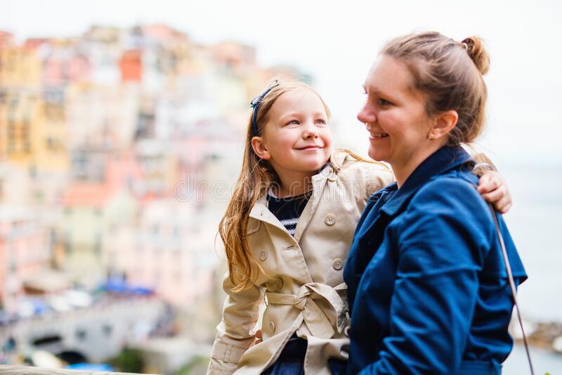 Rodzina we Włoszech obrazy stock