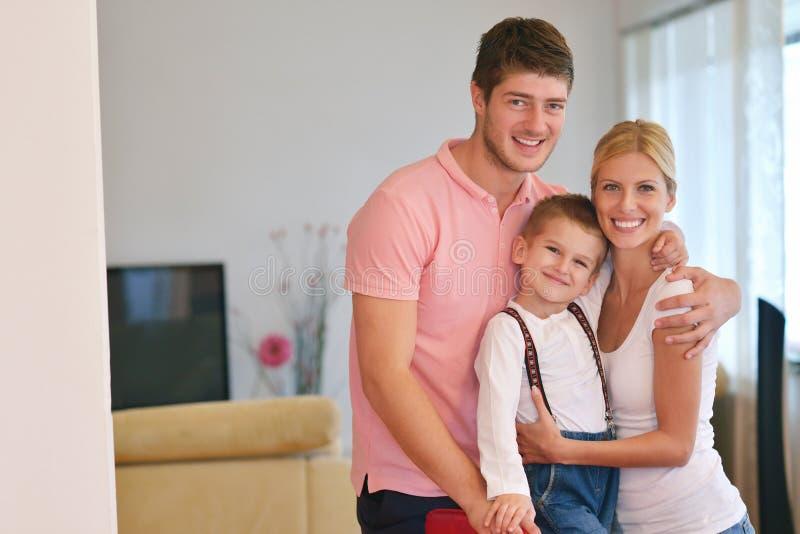 Rodzina w domu obraz royalty free