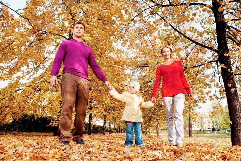 Rodzina w parku zdjęcia stock