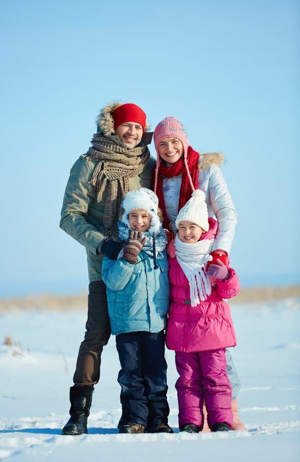 Rodzina w winterwear fotografia royalty free