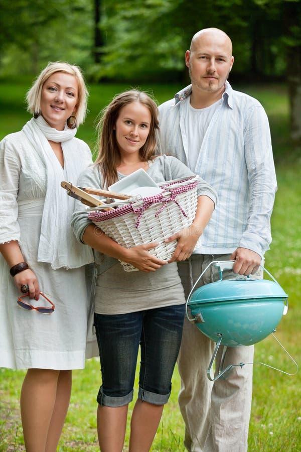 Rodzina Wszystko Ustawiająca Dla Weekendowego pinkinu obrazy royalty free