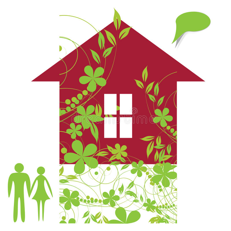 Download Rodzina wymarzony dom ilustracja wektor. Obraz złożonej z mężczyzna - 23711338