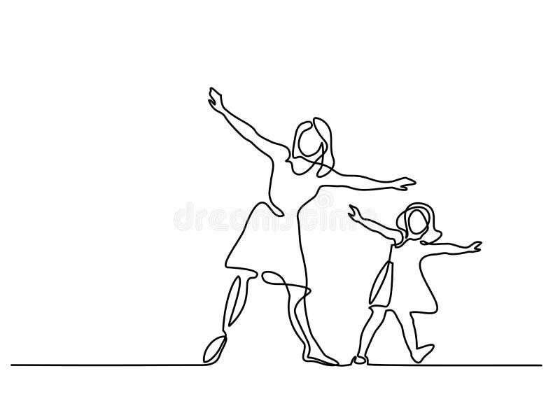 Rodzina z matką i dziewczyną w komarnicie royalty ilustracja