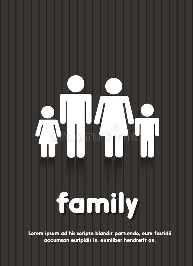 Rodzina znak royalty ilustracja