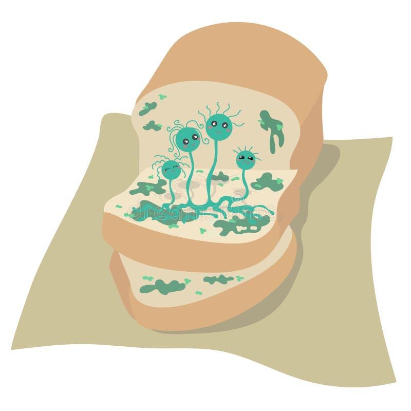 Rodzinna foremka na chlebie ilustracja wektor