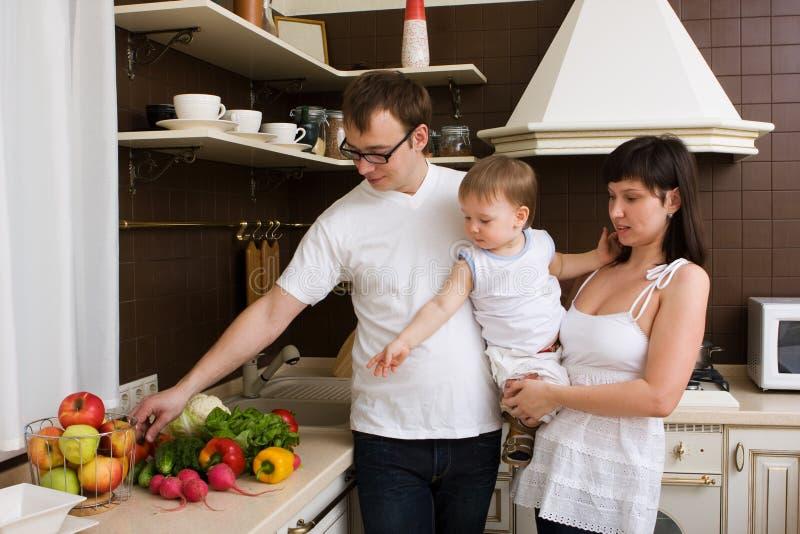 rodzinna kuchnia zdjęcie stock