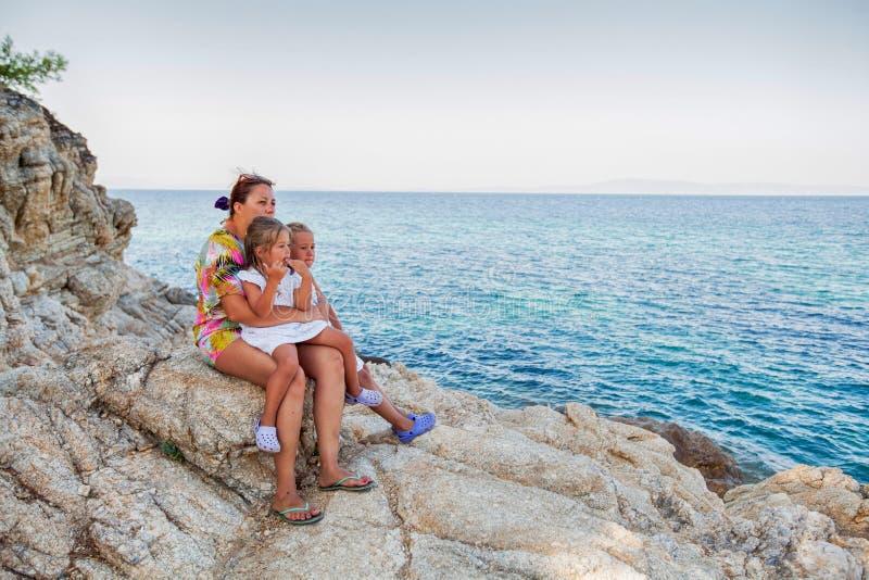 Rodzinna lato podróż fotografia stock