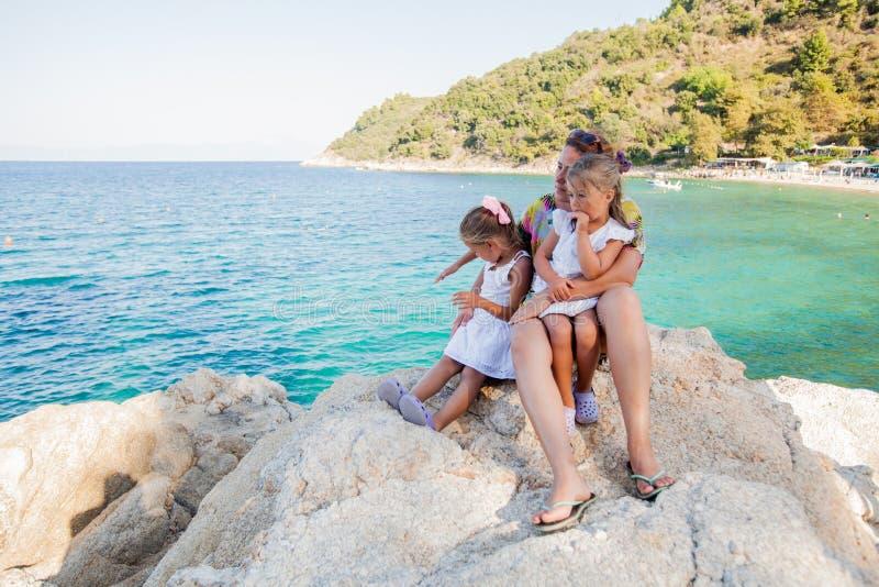 Rodzinna lato podróż zdjęcia royalty free