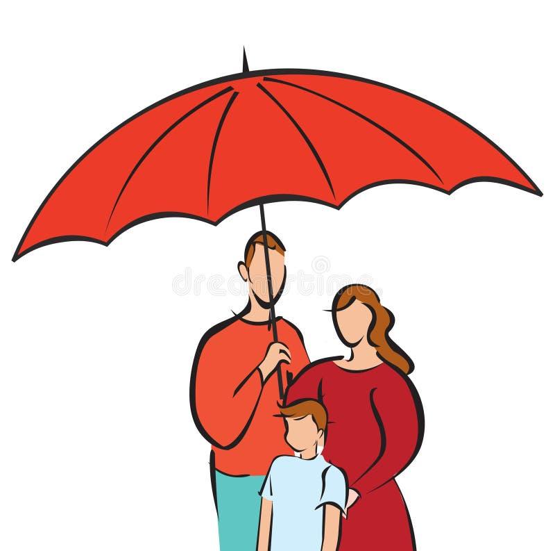 rodzinna ochrona royalty ilustracja