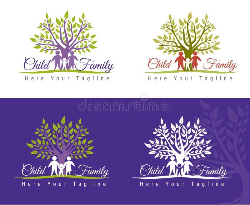 Rodzinna opieka royalty ilustracja