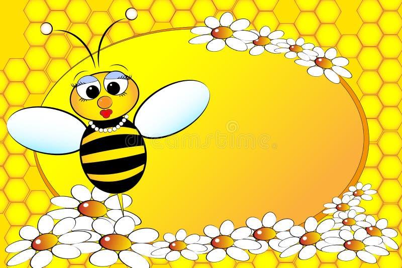 rodzinna pszczoły ilustracja żartuje mamy royalty ilustracja