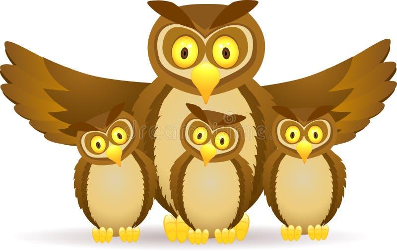 Download Rodzinna sowa ilustracja wektor. Obraz złożonej z greenbacks - 22904443