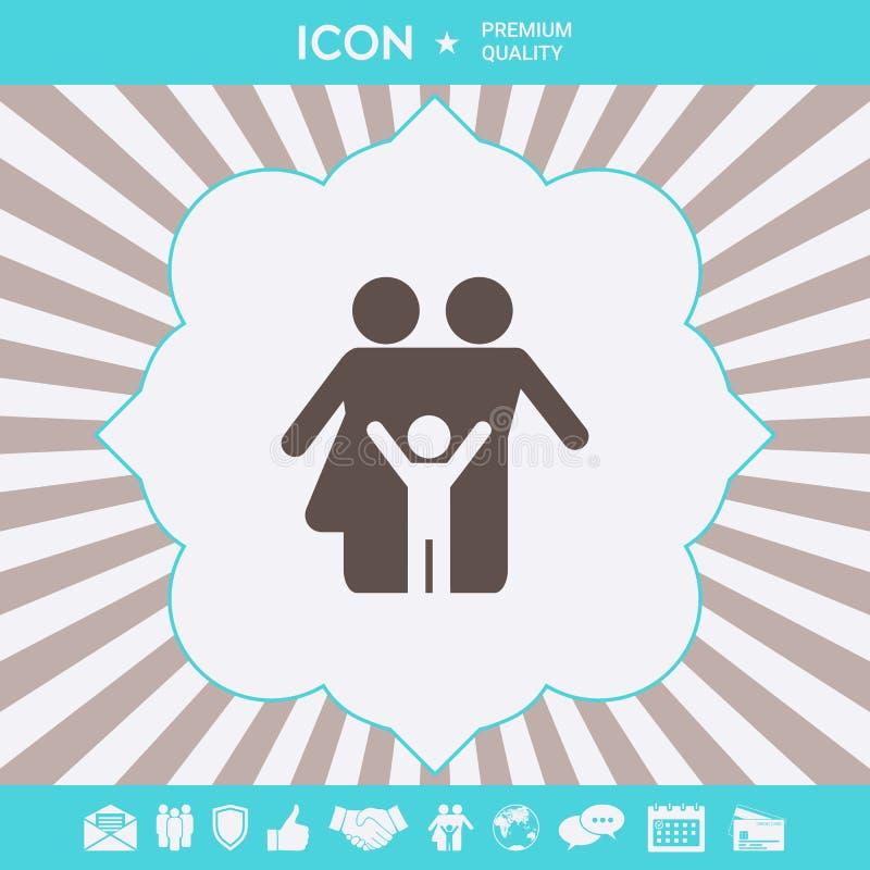 Rodzinna symbol ikona Graficzni elementy dla tw?j projekta royalty ilustracja
