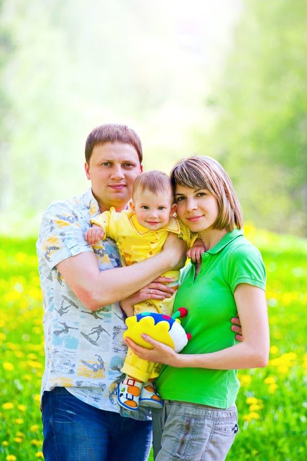 rodzinna trawa fotografia royalty free