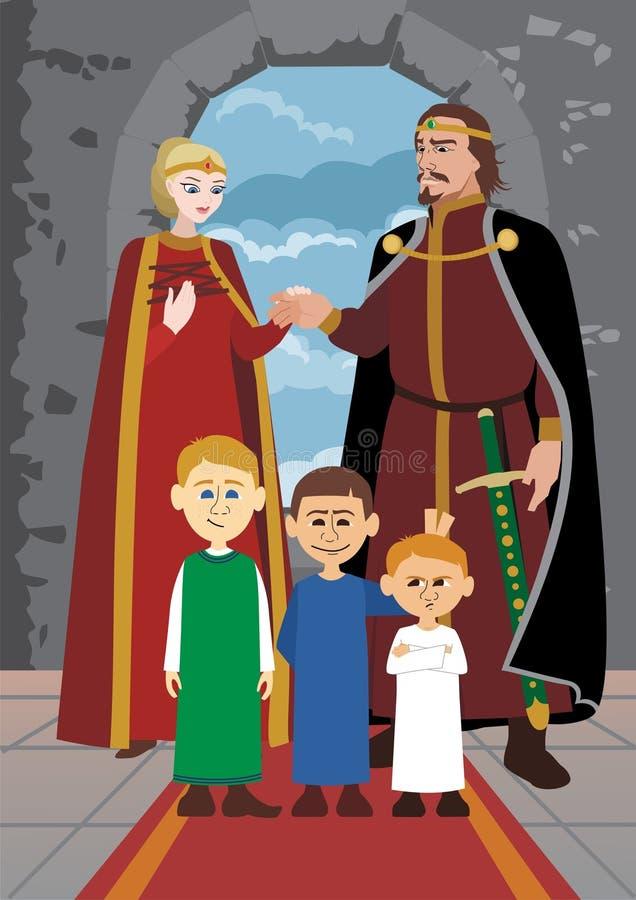 rodzinna wielmoża royalty ilustracja
