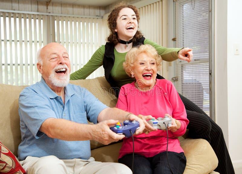 rodzinna zabawa obrazy stock
