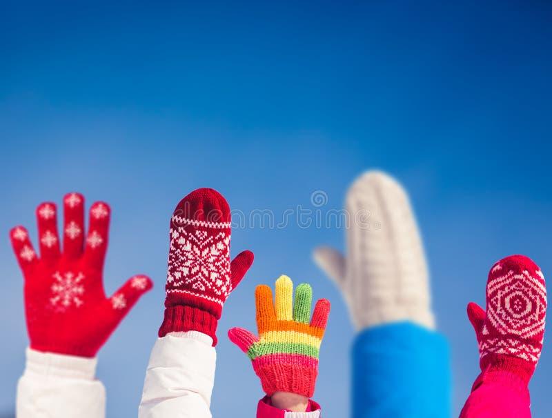 Rodzinna zimy zabawa fotografia stock