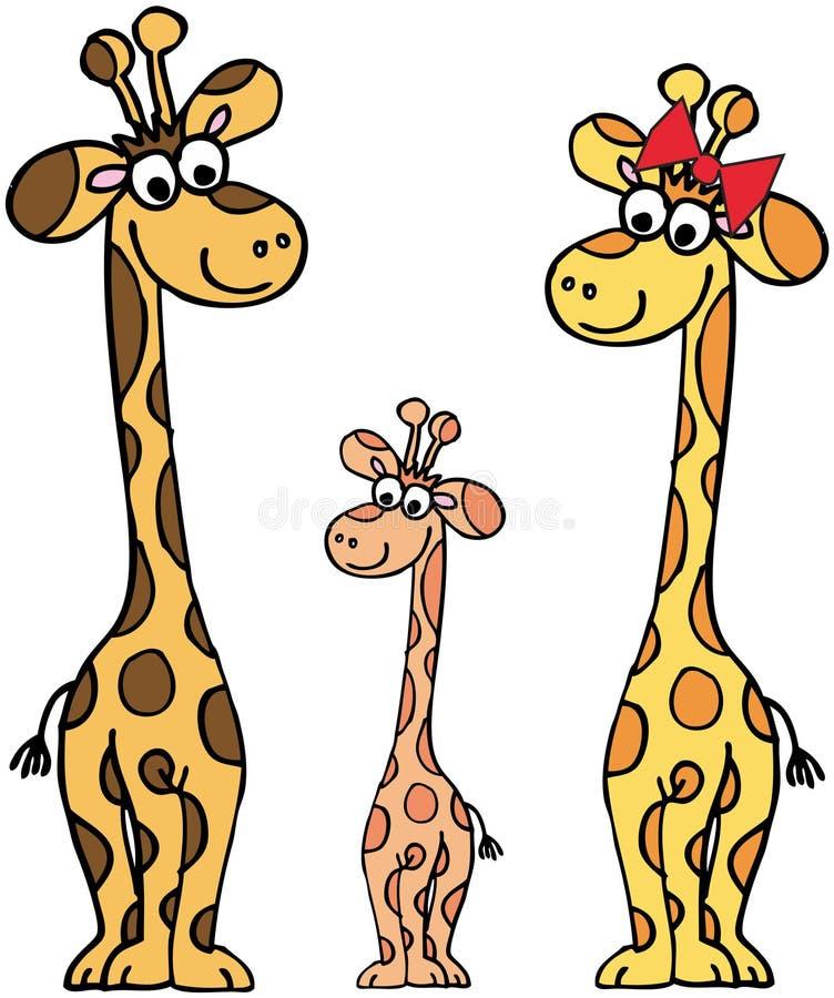 rodzinne żyrafy ilustracja wektor