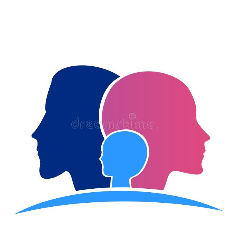 Rodzinne głowy ilustracji