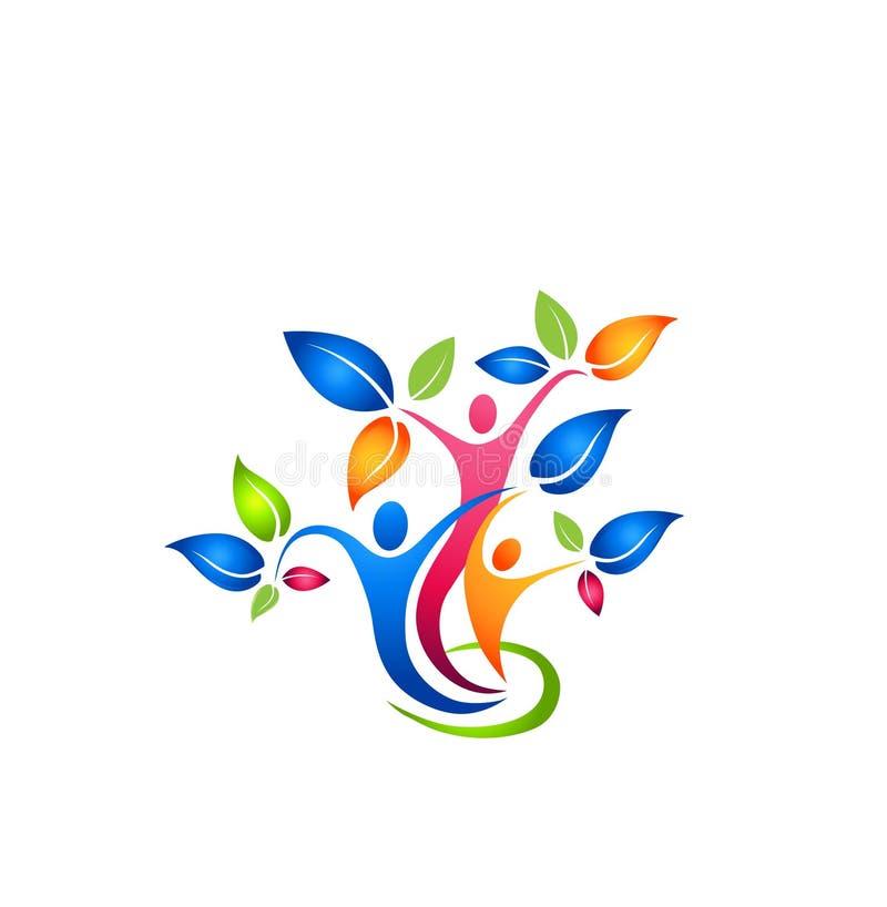 RODZINNEGO drzewa logo, wektor, ilustrator ilustracji