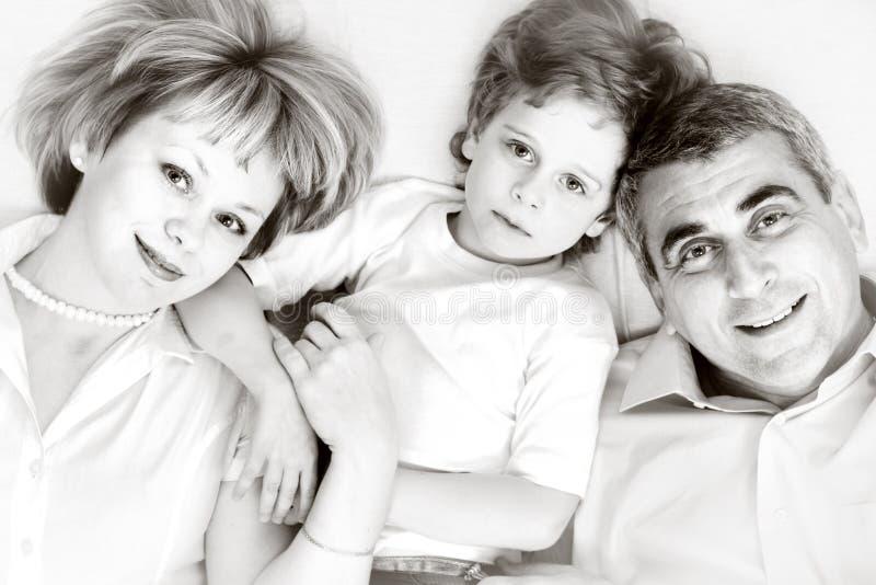 rodzinnego ojca szczęśliwy macierzysty syn fotografia royalty free