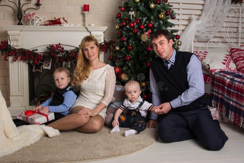 Rodzinni boże narodzenia zdjęcie stock