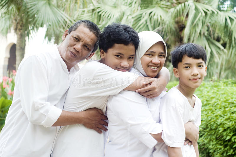 rodzinni muslim fotografia royalty free