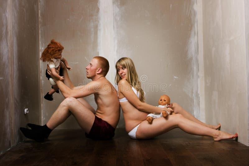rodzinni potomstwa obraz stock