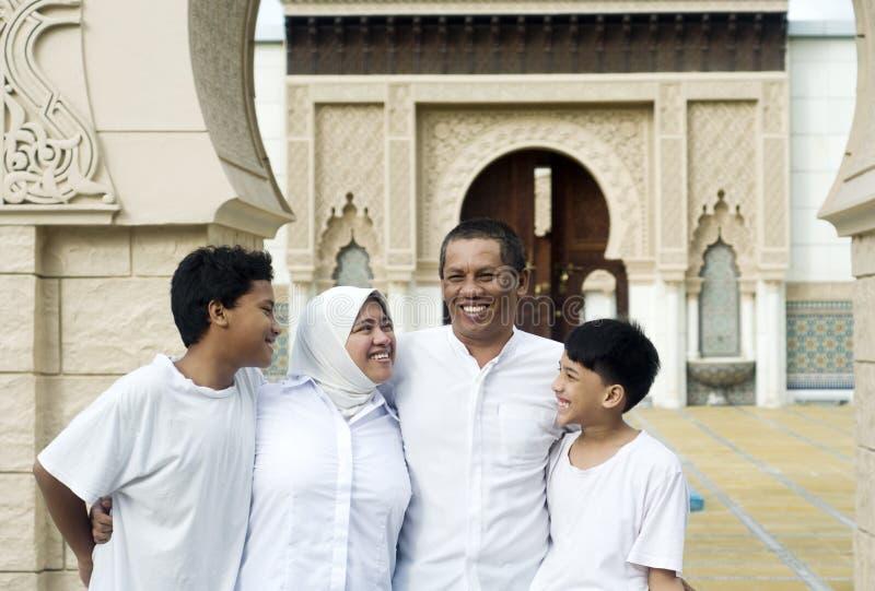 rodzinni szczęśliwi muslim fotografia royalty free