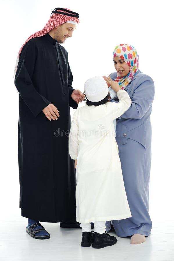 rodzinni szczęśliwi muslim zdjęcia stock