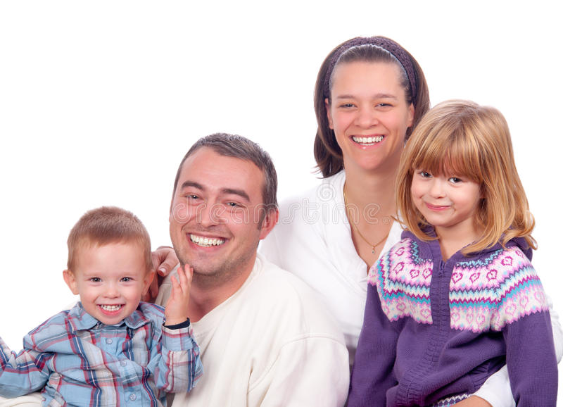 rodzinni szczęśliwi target584_0_ potomstwa zdjęcie royalty free