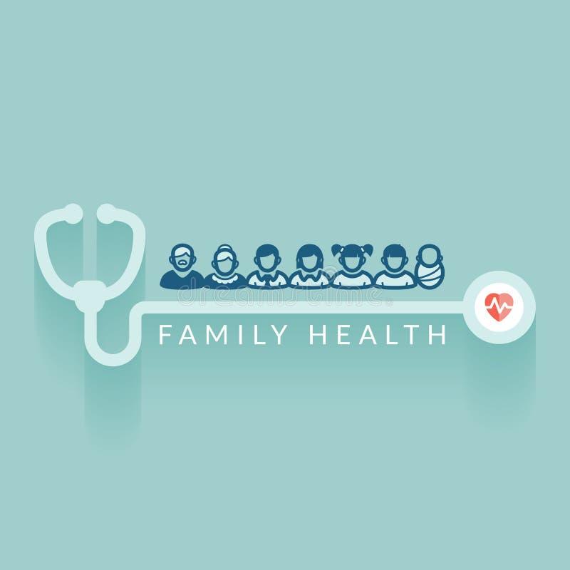 Rodzinni zdrowie royalty ilustracja