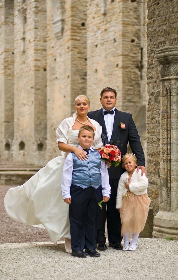 rodzinny ślub obrazy royalty free