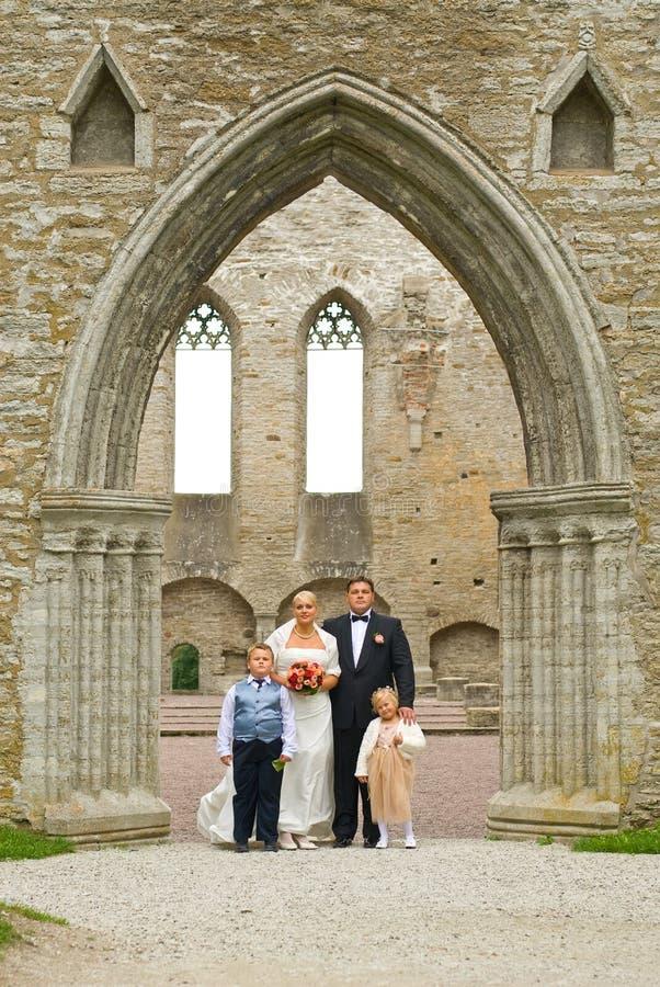 rodzinny ślub fotografia royalty free