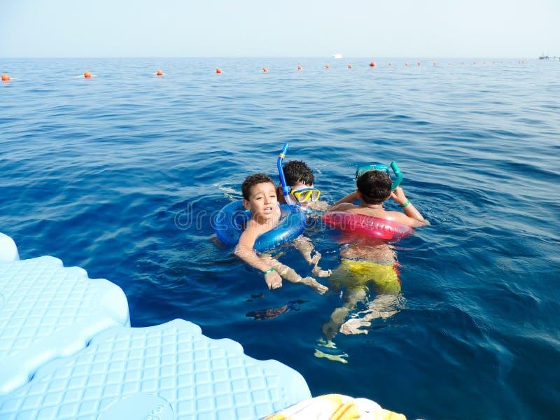 Rodzinny dopłynięcie przy Czerwonym morzem - Szarm el zdjęcie royalty free