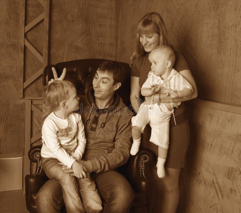 Rodzinny dowcip zdjęcie stock