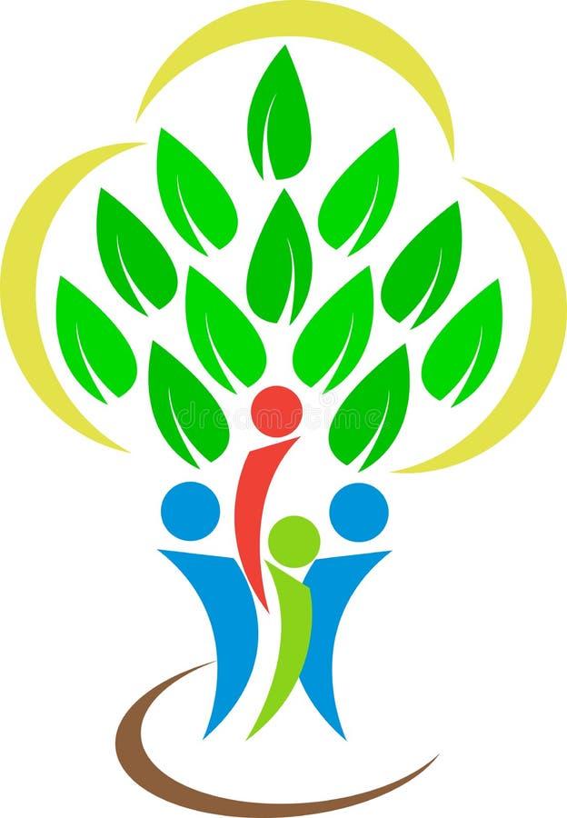 Rodzinny drzewny logo royalty ilustracja