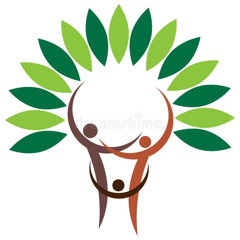 Rodzinny drzewo - piękny wektorowy ilustracyjny logo royalty ilustracja
