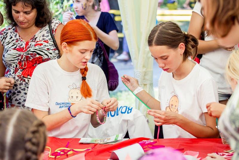 Rodzinny festiwal w Zaporozhye, Ukraina zdjęcie royalty free