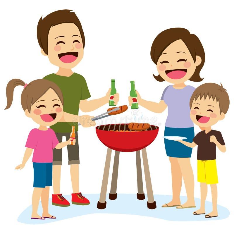 Rodzinny grill ilustracja wektor