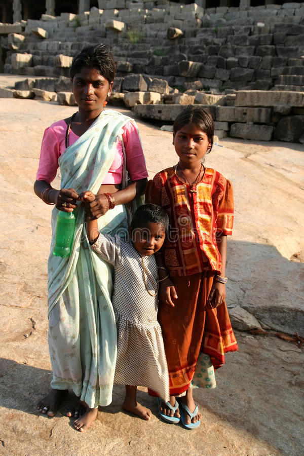 rodzinny hindus fotografia royalty free