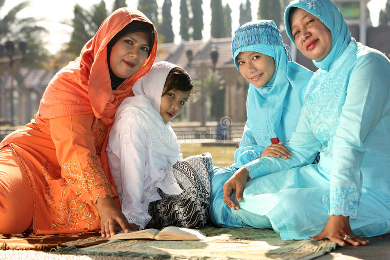 rodzinny islam Ramadan zdjęcie stock