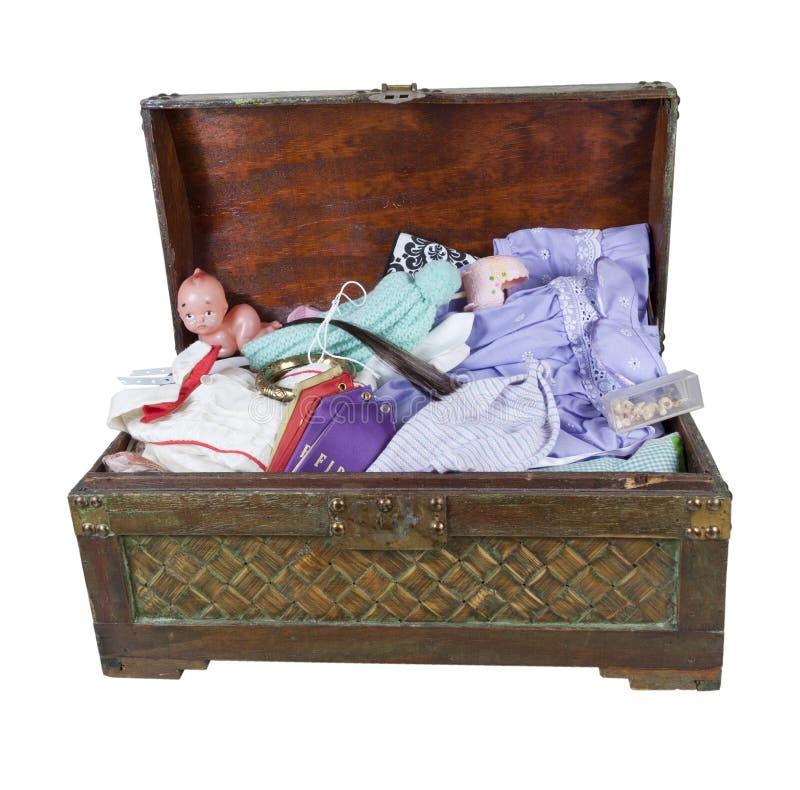 Rodzinny Keepsake bagażnik zdjęcie stock