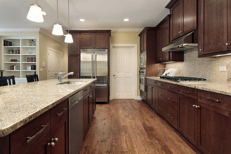 rodzinny kuchenny izbowy widok zdjęcie stock