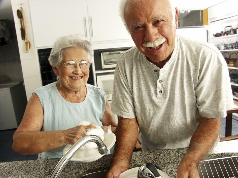 rodzinny kuchenny stary zdjęcia royalty free